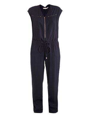 Pebbled crepe jumpsuit