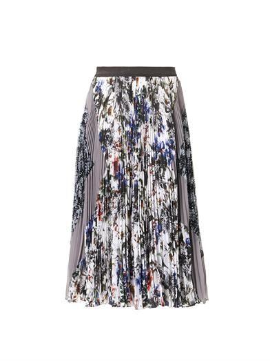Rebecca Taylor Grey Garden pleated midi-skirt