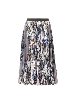 Grey Garden pleated midi-skirt