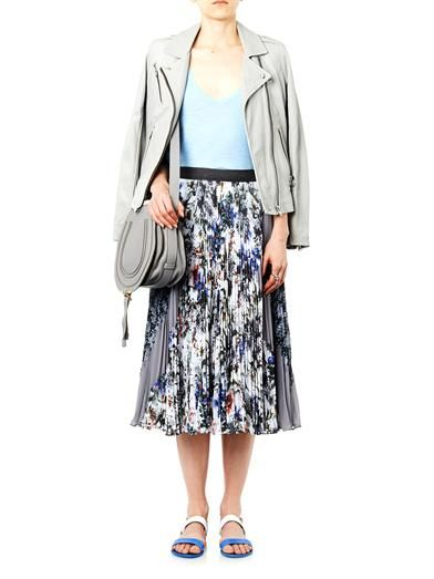 Rebecca Taylor Grey Garden pleated midi-skirt
