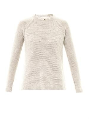 Bi-colour wool-blend sweater