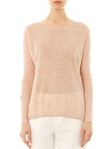 Rebecca Taylor Faded leopard-print sweater