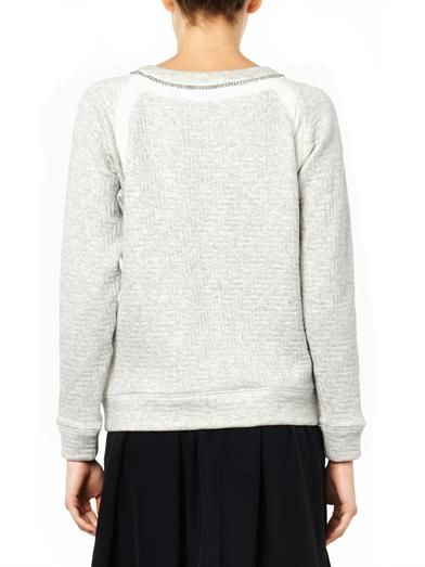 Rebecca Taylor Bi-colour chain-detail sweatshirt