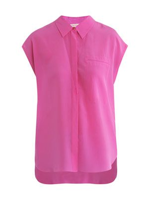 Henley silk top
