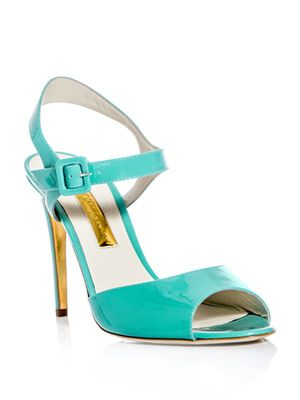 Jacoba patent-leather sandals
