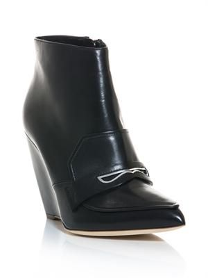 Trevone point-toe wedge boots