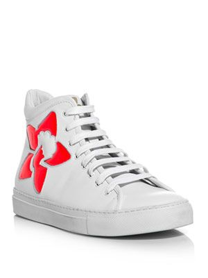 Voana high-top leather trainers