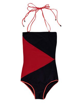 Rodez diamond-block swimsuit
