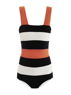 Multi-stripe swimsuit