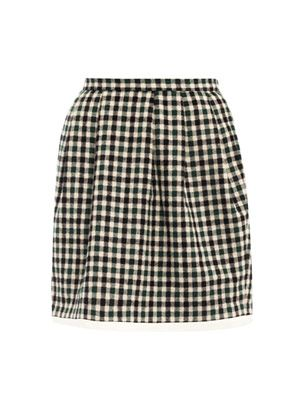 Checked mini bell skirt