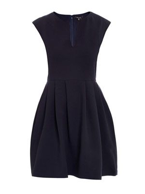 Structured pleat dress