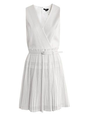 Carmen gathered-pleat dress