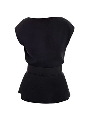 Open-back belted top