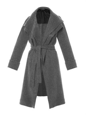 Magdalena felted-wool coat