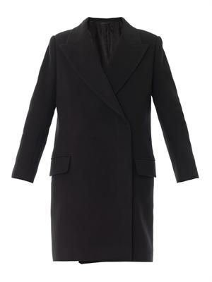 Fessing double-breasted coat