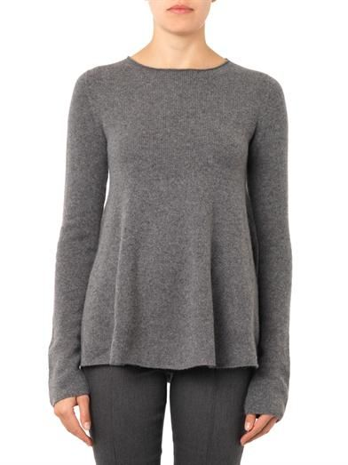 The Row Sabelle A-line cashmere sweater