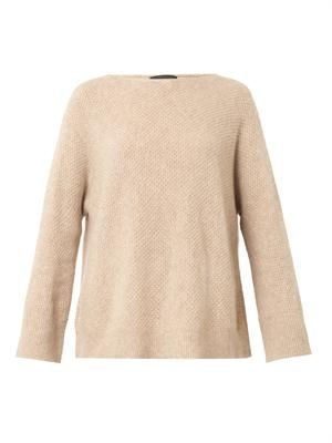 Kerr waffle-knit cashmere-blend sweater