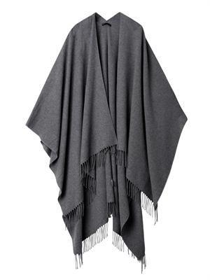 Rina fringed cashmere cape