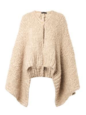 Rashon chunky-knit cashmere cape