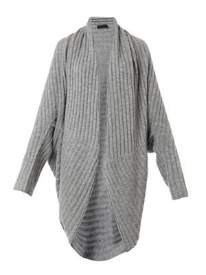 Ilia ribbed-knit cocoon cardigan