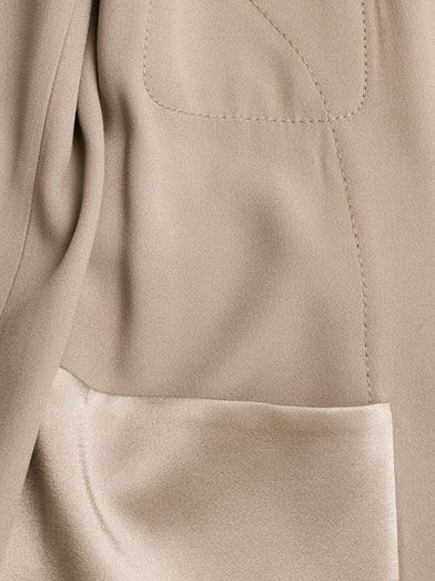 The Row Katem tie-front crepe jacket