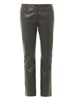Landly leather trousers