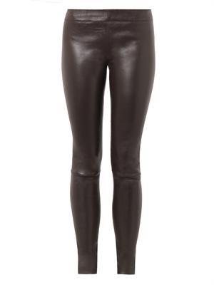Moto leather leggings