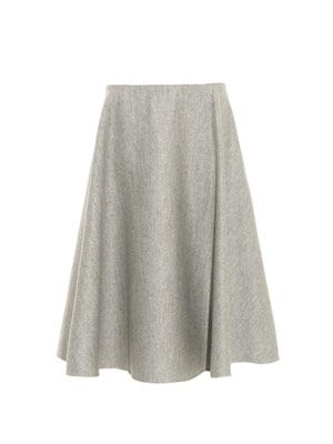 Nisha double-faced wool midi skirt