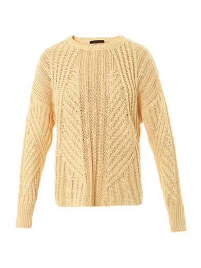 The Row Gracie Matchstick knit sweater