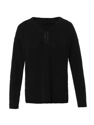 Abbie cotton-knit sweater
