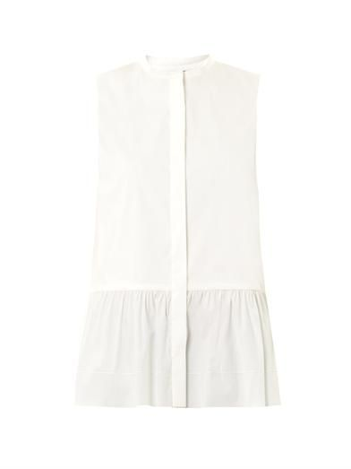 The Row Rusa peplum ruffle blouse