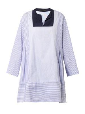 Armet striped cotton-poplin tunic
