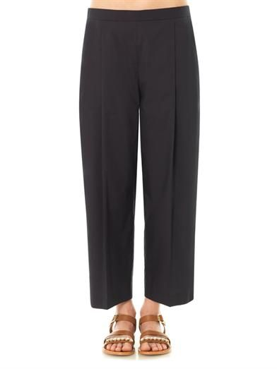 The Row Ota cotton tailored trousers