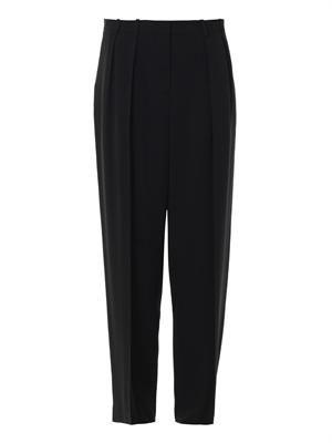Elin matte-crepe trousers