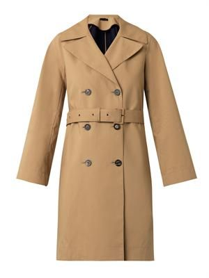 Guyen double-faced cotton trench coat