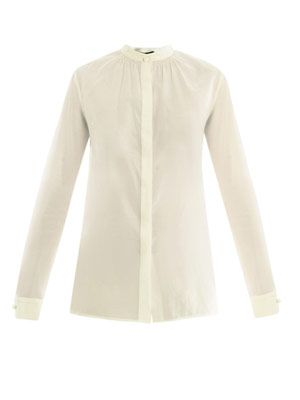 Lorian silk-cotton voile shirt