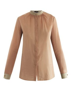 Lorianne silk-cotton voile shirt
