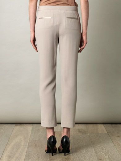 The Row Renstead truffle crepe trousers