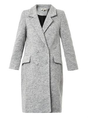 Boiled wool-blend teddy coat
