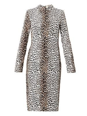 Rosa leopard-print crepe dress