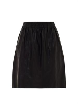 Tilda leather skirt