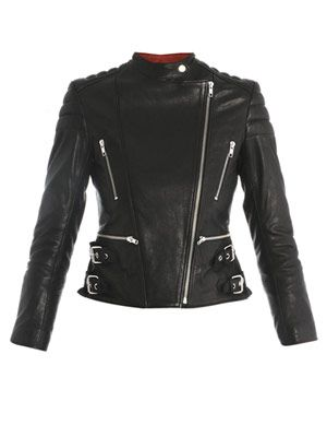 Nova leather biker jacket