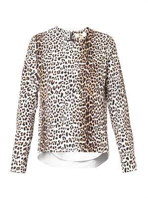 Rita leopard-print zip top