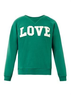Lola love-print sweatshirt