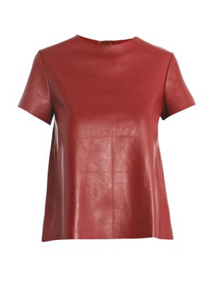 Phoebe leather T-shirt