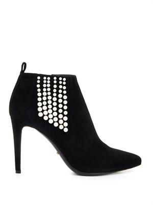 Placebo embellished suede ankle boots