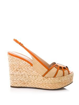 Easy puzzle wedge sandals
