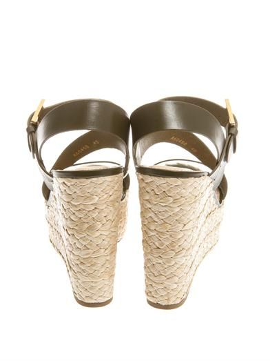 Sergio Rossi Easy Zed raffia-wedge sandals