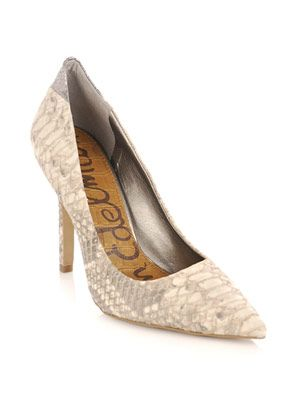 Portney snake-print pumps