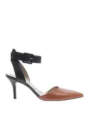 Okala two-tone leather pumps